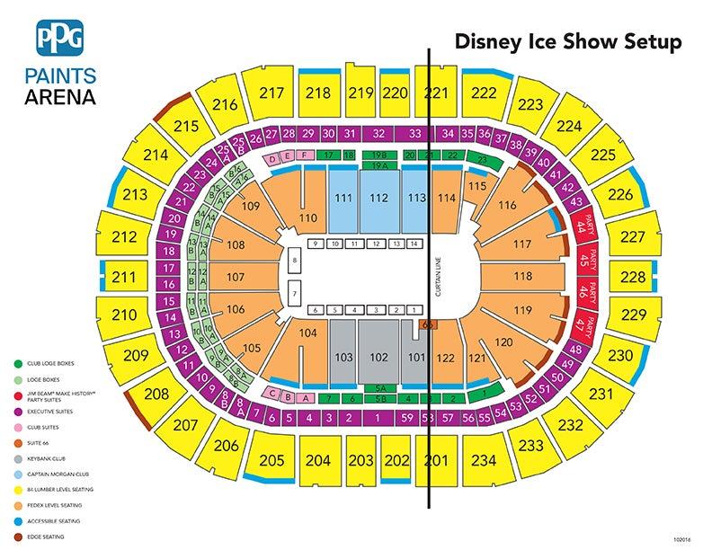 Disney on ice presents frozen ppg paints arena