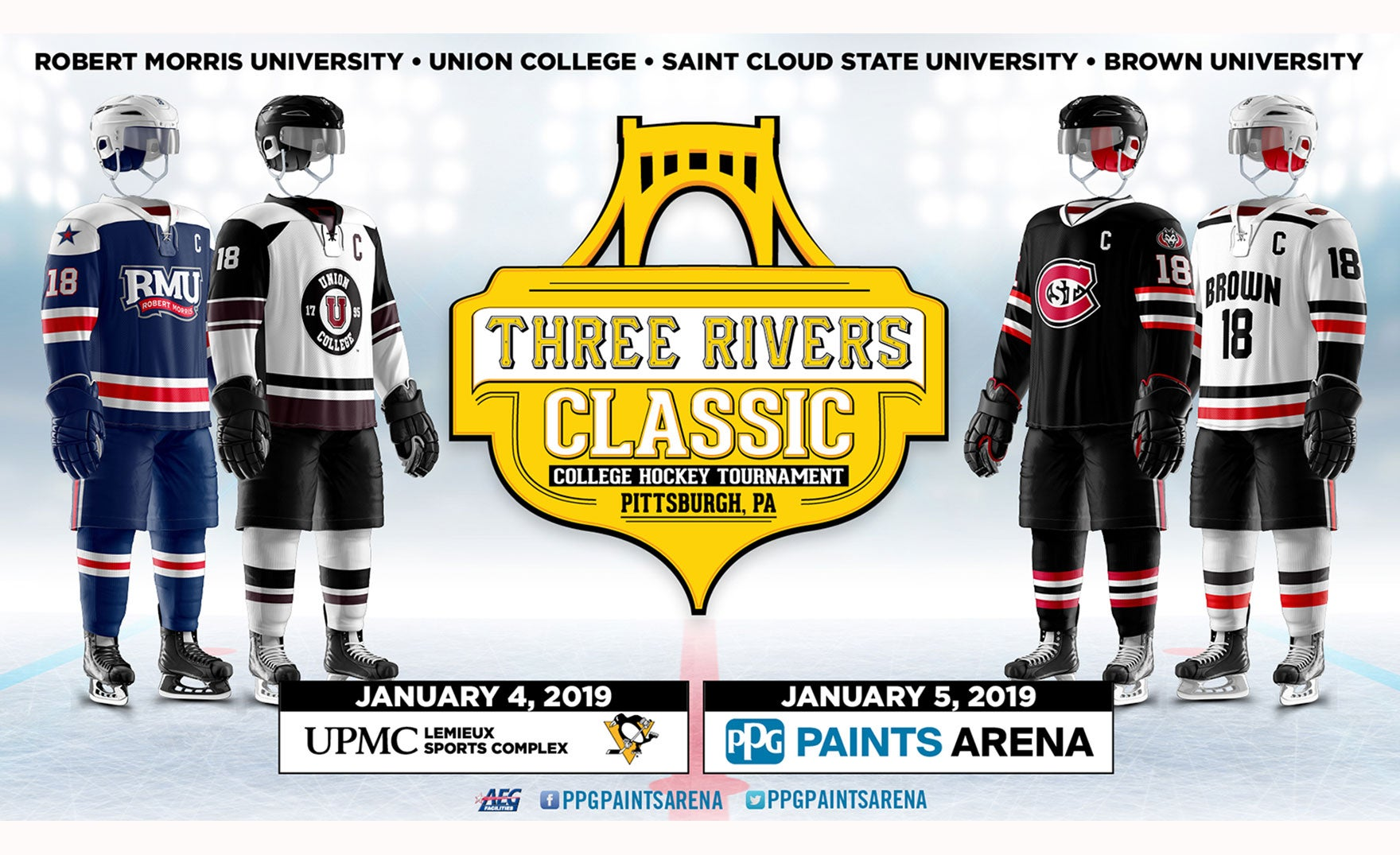 Three Rivers Classic: Men's College Hockey Tournament