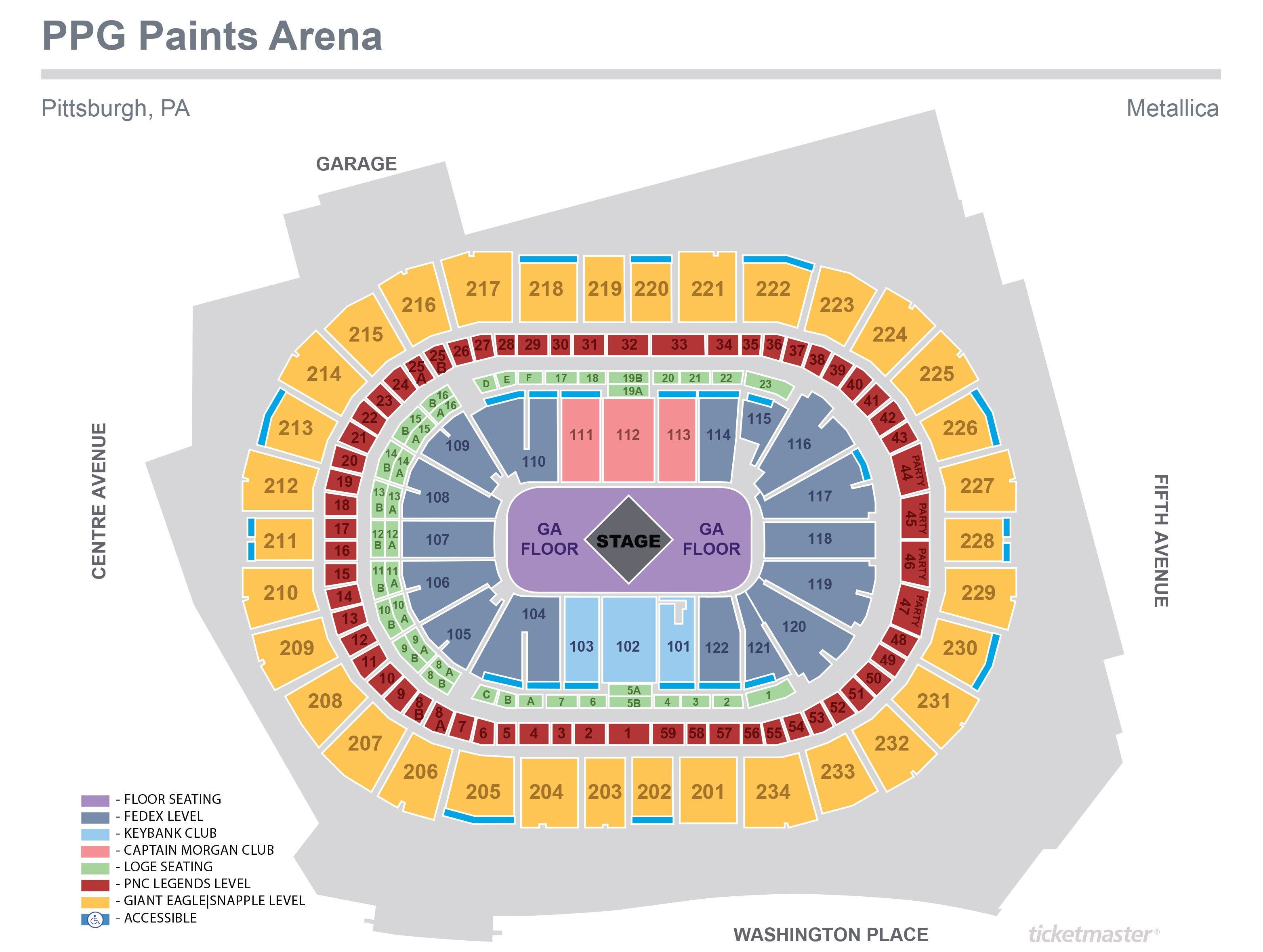 metallica stage diagram metallica | ppg paints arena