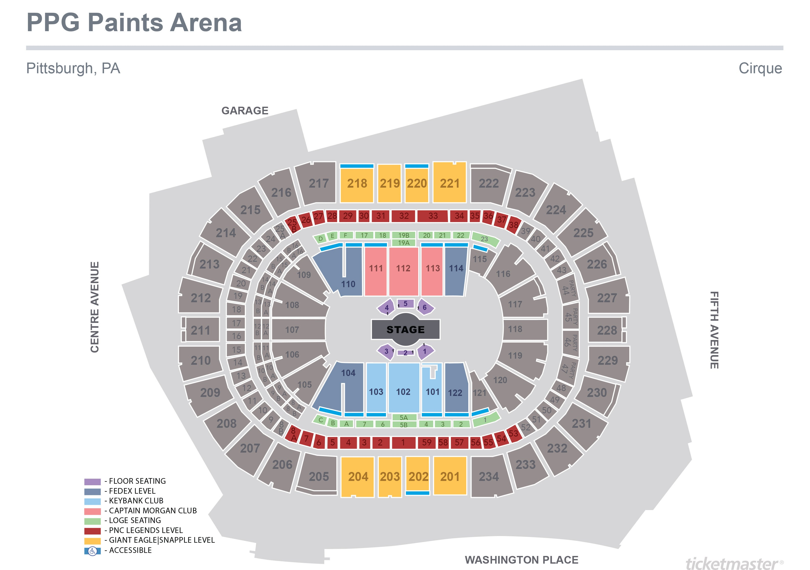 View Seating Chart Parking